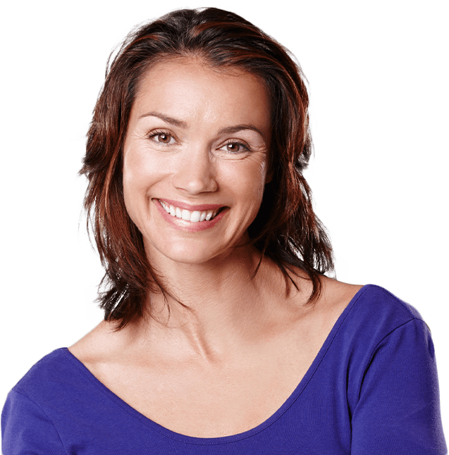 Woman smiling after facial esthetics appointment
