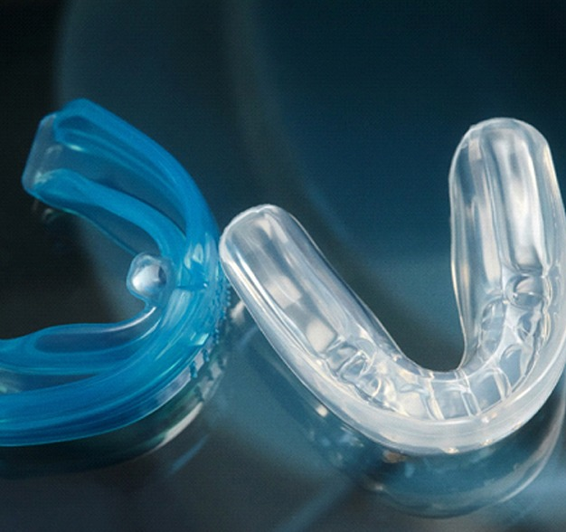 Image of mouthguards to protect the teeth.