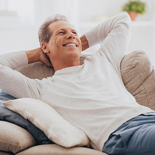 Relaxed man after oral conscious dental sedation