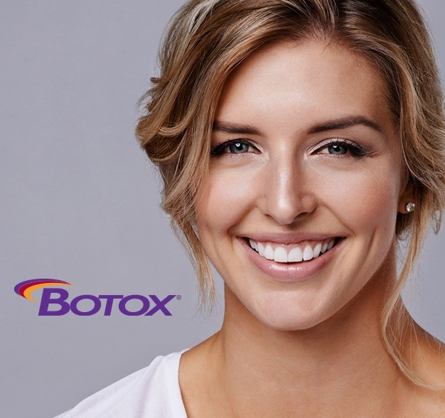 Woman smiling after botox treatment